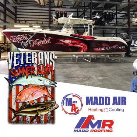 Madd Air & Madd Roofing To Sponsor Veteran's Summer Slam Fishi