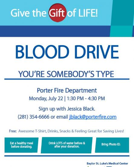 Porter FD Blood Drive