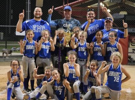 EMCSA 8U Softball Team Shines