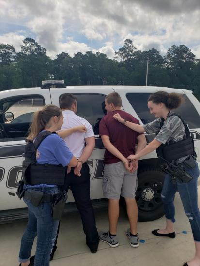 Splendora Students Learning About Law Enforcement