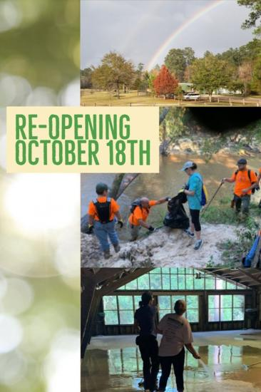 The Lake Houston Wilderness Park officially re-opens today!